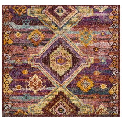 Mcintosh Boho Yellow/Pink Area Rug� Rug Size: Square 7