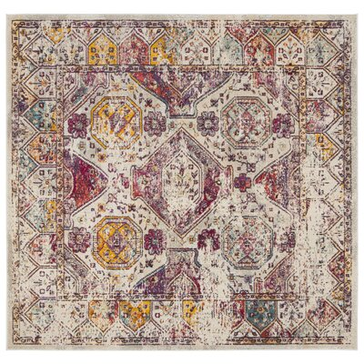 Mcintosh Boho Gray Area Rug� Rug Size: Square 7