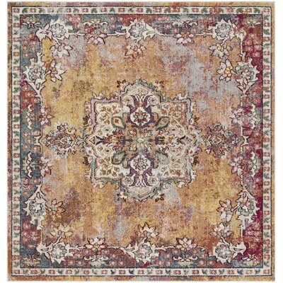 Mcintosh Yellow Area Rug� Rug Size: Square 7