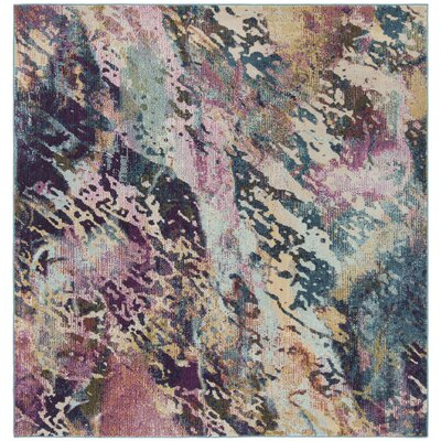 Mcintosh Contemporary Blue/Purple Area Rug� Rug Size: Square 7