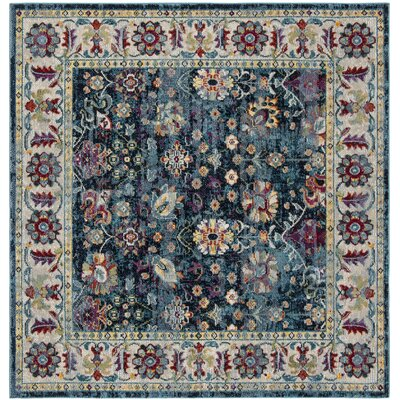 Mcintosh Navy Area Rug� Rug Size: Square 7