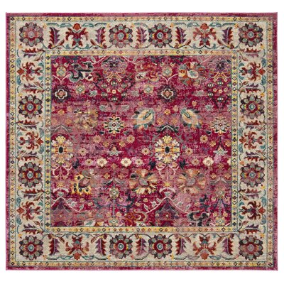 Mcintosh Violet Area Rug� Rug Size: Square 7