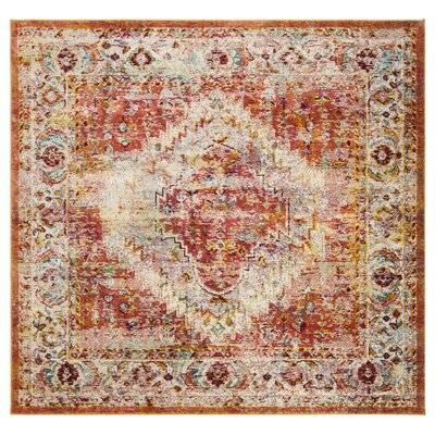 Mcintosh Orange Area Rug� Rug Size: Square 7