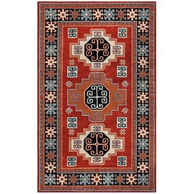 Mar Vista Hand-Woven Wool Red/Orange Area Rug Rug Size: Rectangular 5 x 8