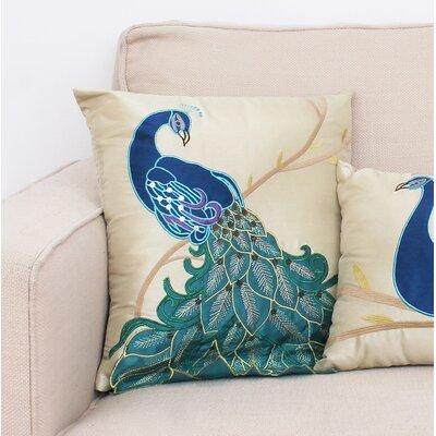 Beatley Peacock Throw Pillow Size: 16 H x 16 W