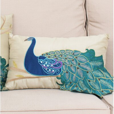 Beatley Peacock Throw Pillow Size: 12 H x 20 W
