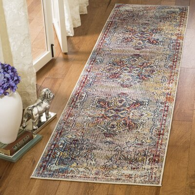 Mcintosh Boho Blue/Purple Area Rug� Rug Size: Runner 23 x 8