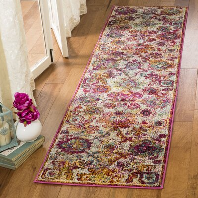 Mcintosh Purple/Orange Area Rug� Rug Size: Runner 23 x 8