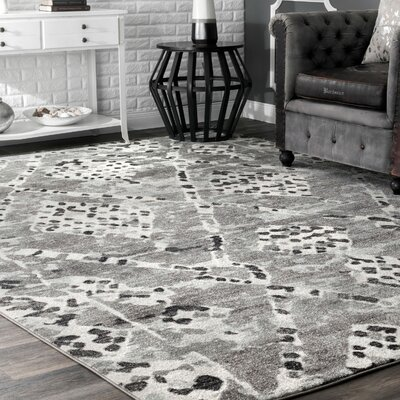 Dunnigan Dark Gray Area Rug Rug Size: Rectangle 8 x 10