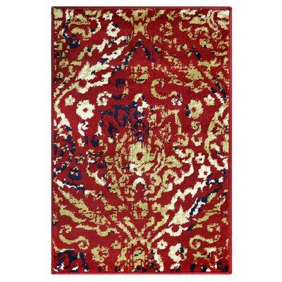 Goshen Red Area Rug Rug Size: Rectangle 2 x 3