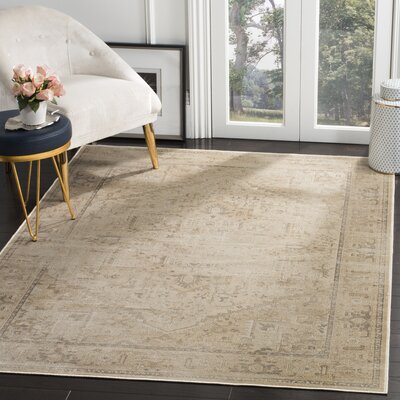 Emily Beige Area Rug Rug Size: Rectangle 8 x 112