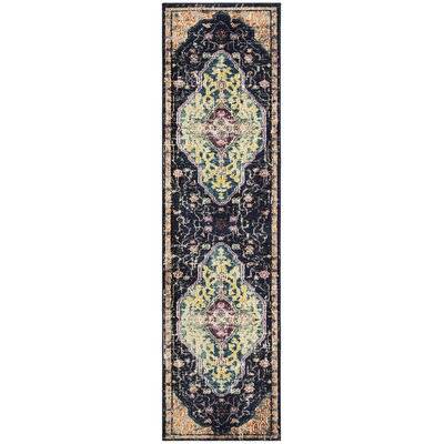 Hammondale Black/Blue Area Rug Rug Size: Runner 22 x 8