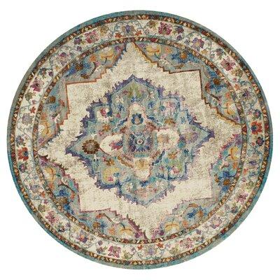 Ravenstein Cerulean Area Rug Rug Size: Round 710 x 710