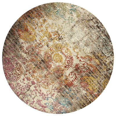 Ravenstein Pink/Brown Area Rug Rug Size: Square 710 x 710