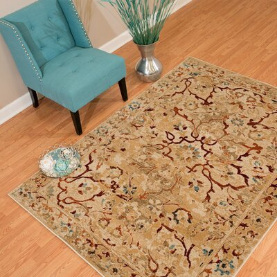 Randolph Orange Area Rug Rug Size: 126 x 15