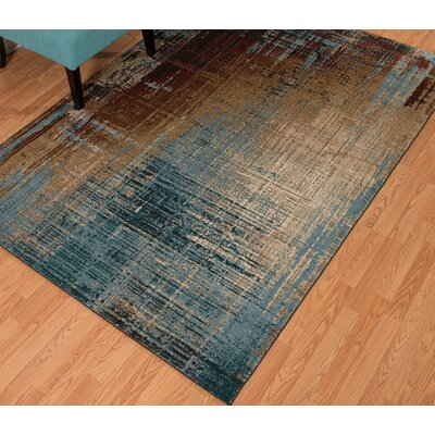 Randers Blue/Red Area Rug Rug Size: Runner 11 x 72