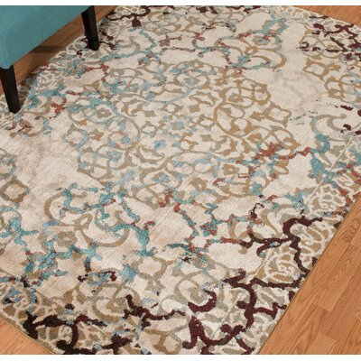 Randers Blue/Taupe Area Rug Rug Size: 27 x 311