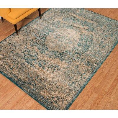 Randers Cerulean Area Rug Rug Size: 710 x 106