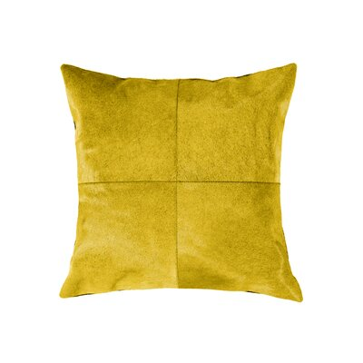 Graham Plain Throw Pillow Color: Yellow