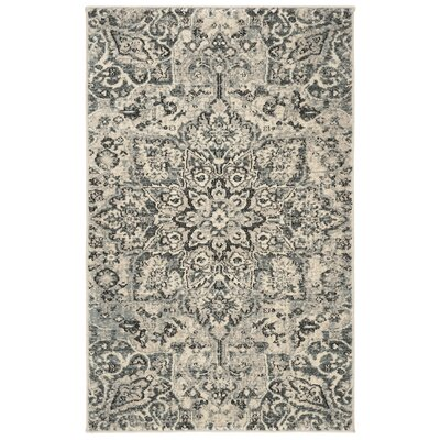 Manton Gray/Ivory Area Rug Rug Size: Rectangular 3 x 5