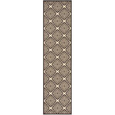 Mullenix Cream/Brown Area Rug Rug Size: Runner 2 x 8