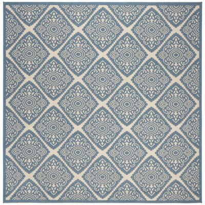 Mullenix Cream/Blue Area Rug Rug Size: Square 67