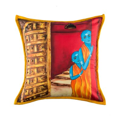 Lapeer Peeking Monks Cotton Pillow Cover