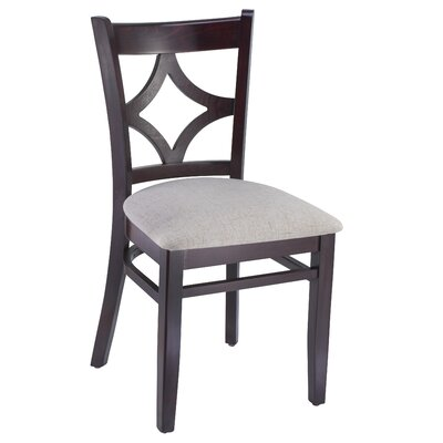 Fralick Solid Wood Dining Chair (Set of 2) Color: Dark Mahogany