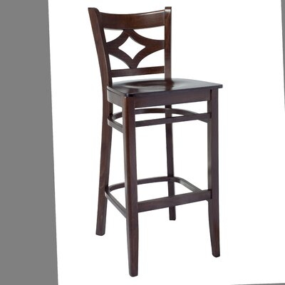 Fralick 30 Bar Stool Color: Walnut