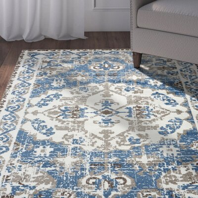 Apsel Light Blue Area Rug Rug Size: Rectangle 52 x 72