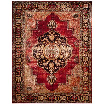 Fitzpatrick Red Area Rug Rug Size: Rectangle 4 x 6