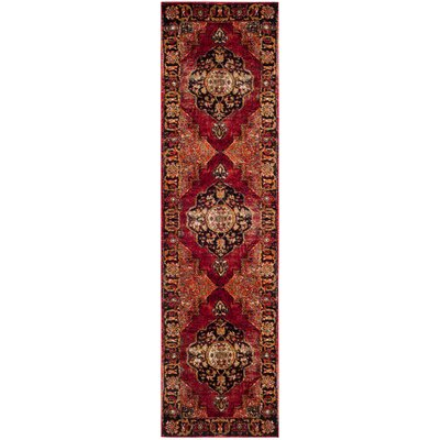 Fitzpatrick Red Area Rug Rug Size: Runner 22 x 10