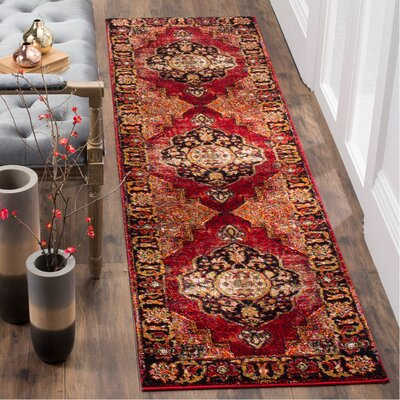 Fitzpatrick Red Area Rug Rug Size: Runner 22 x 6