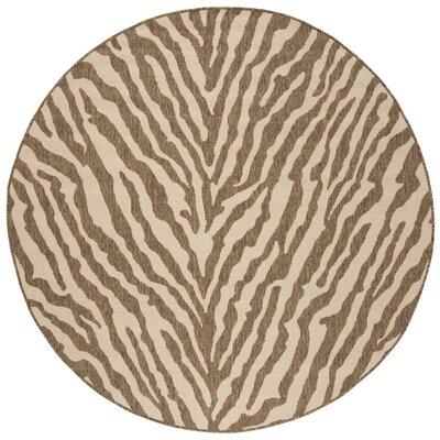 Mckinley Cream/Beige Area Rug Rug Size: Round 67