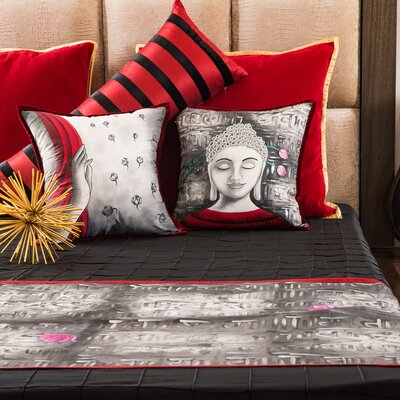 Langlais Divine Buddha Cotton Pillow Cover