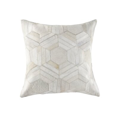 Graham Hand Woven Cowhide Throw Pillow Color: Off White