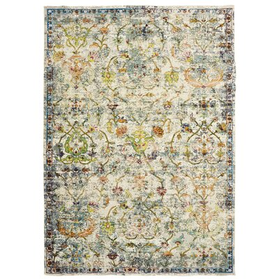 Amory Old World Victorian Gray Area Rug Rug Size: Rectangle 8 x 10