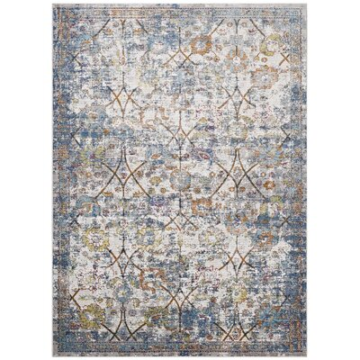 Heitzman Blue/Beige Area Rug Rug Size: Rectangle 4 x 6