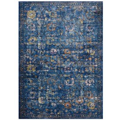 Heitzman Blue Area Rug Rug Size: Rectangle 8 x 10