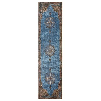 Amory Brown/Blue Area Rug Rug Size: Runner 23 x 89