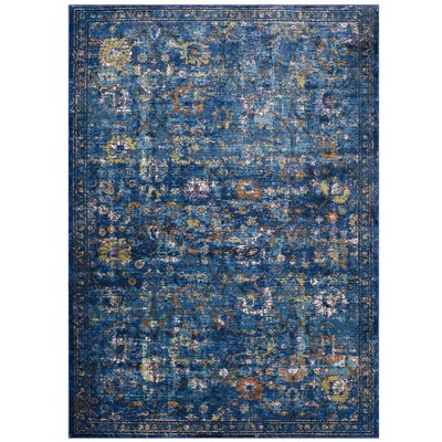 Heitzman Blue Area Rug Rug Size: Rectangle 4 x 6