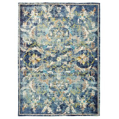 Amory Jacobean Blue Area Rug Rug Size: Rectangle 8 x 10
