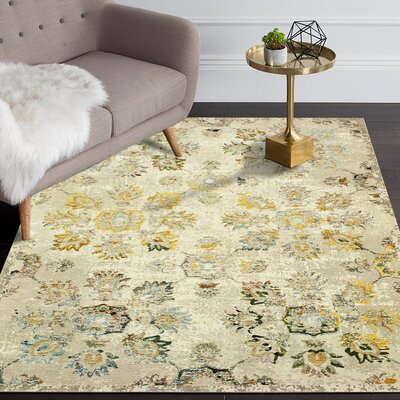 Amory Cream Area Rug Rug Size: Rectangle 5 x 8