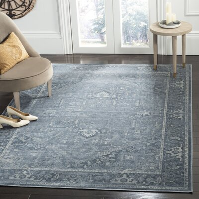 Emily Blue Area Rug Rug Size: Rectangle 53 x 76