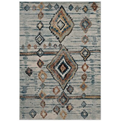 Fiala Moroccan Diamond Beige/Brown Area Rug Rug Size: Rectangle 8 x 10
