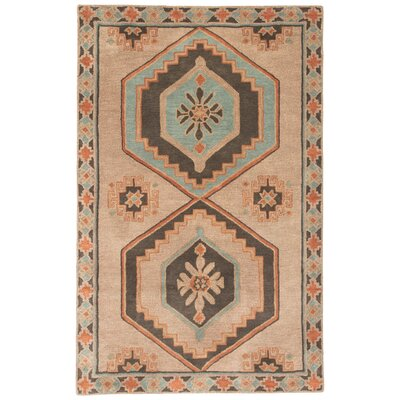 Flemingdon Hand-Tufted Taupe/Orange Area Rug Rug Size: Rectangle 2 x 3