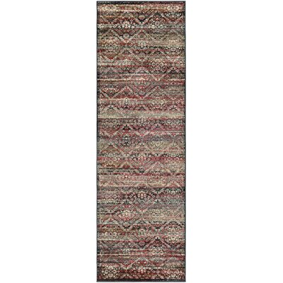 Saramarie Red/Black Area Rug Rug Size: Runner 28 x 71