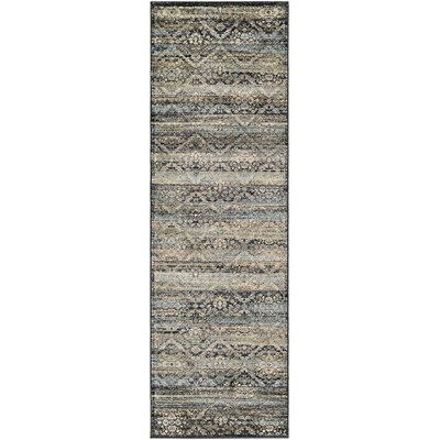 Saramarie Black/Brown Area Rug Rug Size: Runner 28 x 71