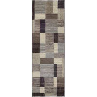 Judlaph Gray/Black Area Rug Rug Size: Runner 27 x 71