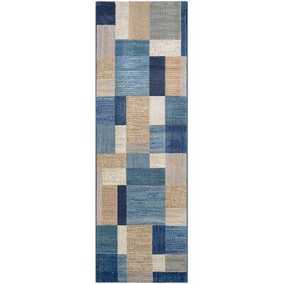 Judlaph Navy/Bone Handmade Area Rug Rug Size: Runner 27 x 71